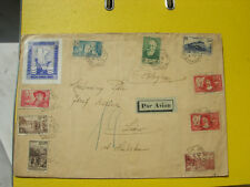 The envelope sent by airmail from France to Poland, large format Paris-Lviv'1937