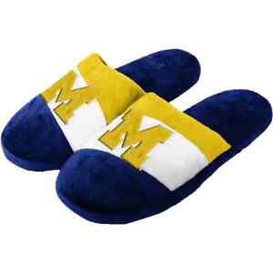 Michigan Wolverines Mens Slippers
