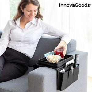 Fernbedienungshalter mit Sofa Ablage Organizer Couch mit Tablett für Snack