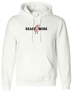 Beast Mode Hoodie Hoody Hood Gym Workout NMA Exercise Mens Boxing Gift Unisex