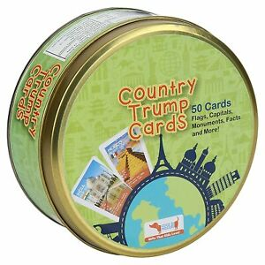 Educational Geography Game Toy | Country Trump Cards | (5 -14 Yrs ),Free Ship