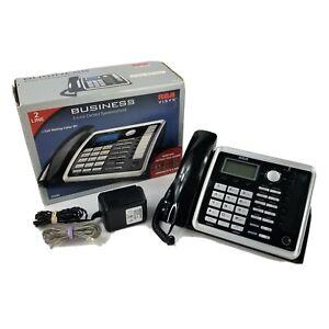 RCA 25260 ViSYS Business 2-Line Corded Wireless Speakerphone Euc