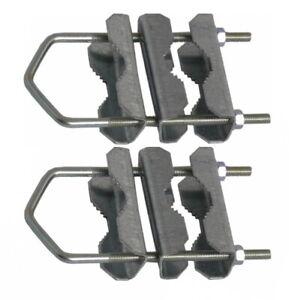 2x Mast Doppelschelle Rohr Masthalter bis 60 mm Mastschelle verzinkt 16 cm lang