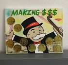 8x10 Uv Black Light Supreme LV Rich Uncle Pennybags Monopoly  Acrylic Art