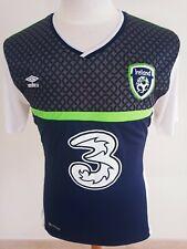Republic of Ireland Football Away Shirt 2016 (L) Umbro Blue Jersey Trikot