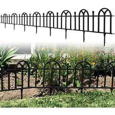 NEW Black Victorian Garden Border Fencing Resin Polypropylene Easy Installation