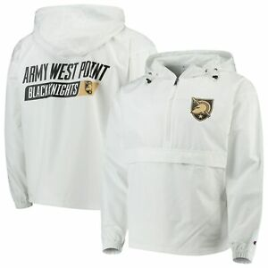 Army Black Knights Champion Tailgate Packable Half-Zip Jacket - White