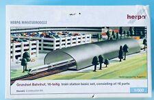 Grundset Bahnhof AirportAccessories 1:500 Herpa Teile komplett RailwayStation