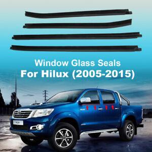 For toyota hilux cab 2005-2015 Window glass seals door belt weather strip