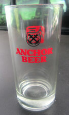 """Anchor Beer 5 1/2"""" Glass Chinese words...  b"""