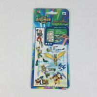 New & Vintage Digimon Stick N Play Stickers & Play Scenes Mello Smello Fox Kids