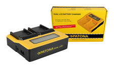 Caricabatteria rapido DUAL LCD Patona per Sony FDR-AX100E,FDR-AX33