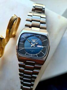 Vintage BLUE 1981 Mens Seiko 5 Automatic Watch 6309-6010, ORIGINAL
