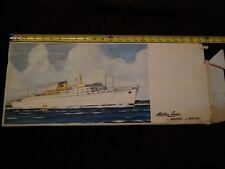 Matson Lines Ss Mariposa Paper Model Ship Unassembled Near Mint Condition
