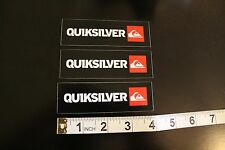 QUIKSILVER Island Wave Logo Surfboards Quicksliver Surfing Decal STICKER x 3