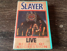 SLAYER - Decade Of Aggression (Live) CASSETTE TAPE / Thrash Metal