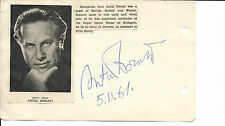 1960s ANTAL DORATI 1906-1988  in ISRAEL SIGNED AUTOGRAPH