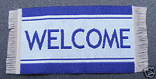 1:12 Scale Small Woven Blue Welcome Mat Tumdee Dolls House Door Carpet Accessory