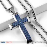 Men/'s Stainless Steel Single Stick Twist Pendant O Link Chain Necklace Cool P36