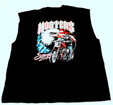 Hooters Uniform Sturgis Sleeveless Biker T-Shirt XL OOP work ride USA FLAG