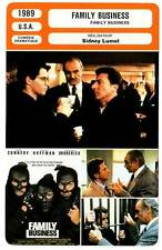 FICHE CINEMA : FAMILY BUSINESS - Connery,Hoffman,Broderick,Lumet 1989