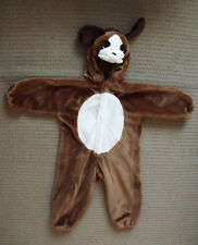 FUZZY FUR / PLUSH PUPPY DOG Halloween Costume  size S (3-4), unisex boys girls