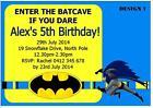 20 x BATMAN BIRTHDAY CHILDRENS PERSONALISED KIDS INVITATIONS INVITES + MAGNETS