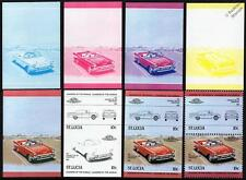 1957 CHEVROLET BEL AIR Car Stamps (1984 St Lucia Progressive Proofs / Auto 100)