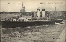 Dieppe France Steamship Paquebot Steamer Ship ROUEN c1915 Postcard #4