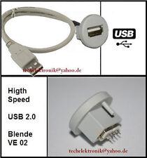 USB Einbaubuchse einbausteckdose Buchse 90cm passend für MP3 E61 E30 E46 E90 E60