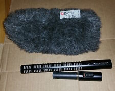 Sennheiser ME66 Super-Cardioid Shotgun Mic with K6P Power Microphone with Rycote