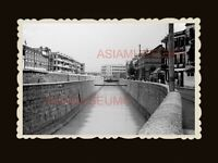 1940s BOWRINGTON CANAL ROAD WW2 AIR RAID BUILDING Vintage Hong Kong Photo #1742
