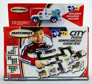 2002 Matchbox City Puzzle #1 w/ Ambulance WHITE / SEALED