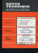 (30B) REVUE TECHNIQUE AUTOMOBILE FORD ESCORT / FIAT 850 NECKAR ADRIA