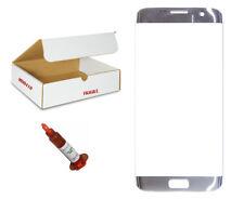 Silver Front Glass Lens UV LOCA Glue Replacement Compatible Galaxy S7 EDGE G935