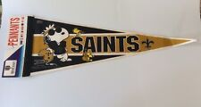 Vintage - Snoopy & Woodstock - New Orleans Saints NFL - Felt Pennant - RARE