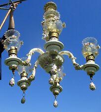 Capodimonte Ornate Chandelier 5 arm putti Cherubs Angels Porcelain Italy WOW