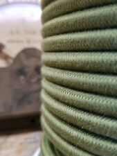 Green Cotton Cloth Covered 3-Wire Round Cord, Vintage Pendant Lights, Flex Cable