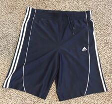 Adidas Men's Navy Blue White Striped Athletic Basketball Shorts Sz S