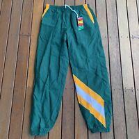 New W Tags Deadstock Australian Trackpants Size XL Mens Green & Gold