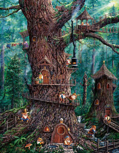 Sunsout 1000 Piece Large Format Jigsaw Puzzle - Forest Gnomes
