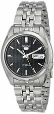 Seiko 5 SNK357 Men's Stainless Steel Dark Blue Dial Day Date Automatic Watch
