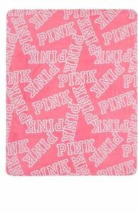 "Victorias Secret Pink The COZY Stadium Blanket Super Soft Throw 50"" X 60""  NEW"