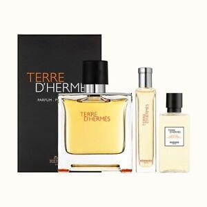 Hermes Terre D' Hermes - Gift Set With 75ml EDP, 40ml Shower Gel and 12ml Miniat