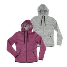 Strick Fleecejacke mit Kapuze & Reißverschluss Damen Pullover Fleece Jacke