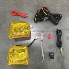 For Honda Civic 96-98 Factory Replacement Fit Fog Light Wiring Kit Yellow Lens