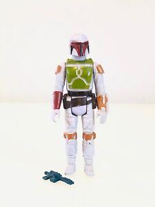 Vintage Star Wars Tri Logo Boba Fett Unpainted Knee Complete Excellent Cond