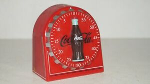 Vintage Red Coca-Cola 60 Minutes Kitchen Timer with Magnetic Back