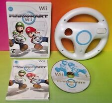 Mario Kart + Racing Wheel Game Lot Bundle Nintendo Wii Wii U 1-4 Players Race