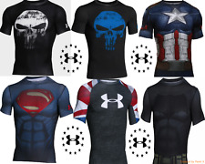 New Men's UNDER ARMOUR Alter Ego Suit Compression Shirt DC Marvel Short Sleeve